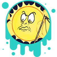 Picture link of an angry sun with buff arms to the gravity in galaxies page.