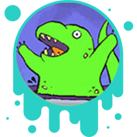 Picture of a happy dinosaur to the fossil fuels.