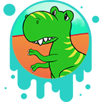 Picture link of a sad dinosaur to the tectonic plates.