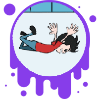 Picture link of a cartoon person falling to the forces page.