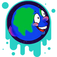 Picture link of a happy, goofy cartoon earth to the heating of the earth page.