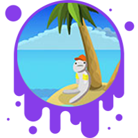 Picture link of guy sitting on an island to the energy of waves page.