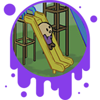 Picture link of a cartoon child going down a slide to the potential and kintetic page.