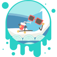 Picture link of a cartoon water drop lounging at a pool to the water cycle.