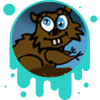 Picture link of a goofy squirrel to the water and environment.