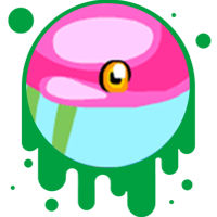 Picture link of a cartoon flamingo eye to the flamingo traits page.