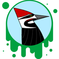Picture link of a pileated woodpecker to the Woodpecker traits page.