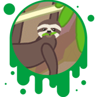 Picture link of a cartoon sloth to the sloth traits page.