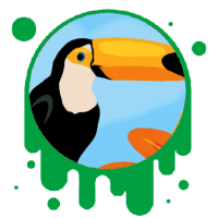 Picture link of a cartoon toucan for the toucan verses humming bird traits page.