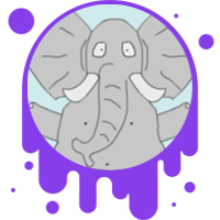 Picture link of a confused cartoon elephant to the mass equals splash page.