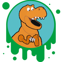 Picture link of a cartoon dinosaur to the downgrade page.